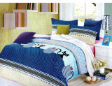 Lenjerie de pat din Bumbac Satinat 2 persoane F12A 37, 230x250 cm, Set complet