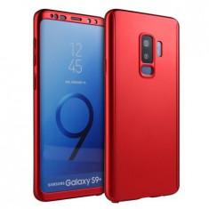 Husa Samsung Galaxy S9 - Rosu - (fata + spate + folie de protectie din silicon)
