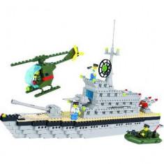 SUPER JOC CONSTRUCTIE TIP LEGO MILITAR 3in1,VAPOR,BARCA,SUBMARIN,ELICOPTER,503pc