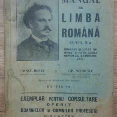 Manual de limba romana clasa II-a - Const. Botez// 1933