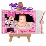 Marturii botez magneti Handmade by Diana Puiu Minnie Mouse MDFM 6