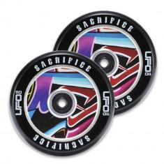 Set 2 roti trotineta Sacrifice UFO 110mm Black/Graffiti