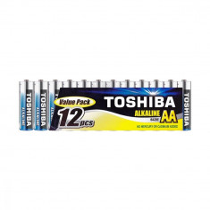 Baterii Toshiba Alkaline AA , LR06 1.5V 12 Baterii / Set