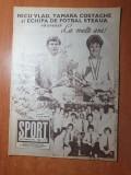 sport decembrie 1986-steaua castigatoare a CCE,nicu vlad, echipa jiul petrosani