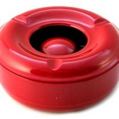 Scrumiera antivant melamin culoare rosie 14cm Raki