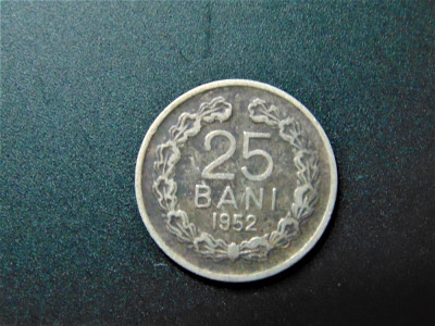MONEDA ROMANIA 25 BANI 1952 foto
