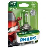 Bec auto cu halogen pentru far Philips H7 LongLife EcoVision 12V, 55W, 1 Buc