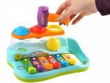 Set instrument muzical tip xilofon cu redare sunete, multicolor