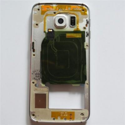 Carcasa Mijloc Samsung G925 Galaxy S6 Edge Alb Orig Swap A foto