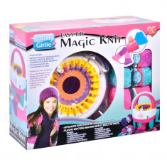 Kit crosetat DIY Magic Knit, 3 bobine lana, 5 ani+