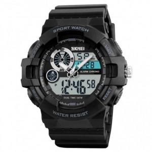 Ceas Barbatesc SKMEI CS902, curea silicon, digital watch, Functii- alarma, ora, data, cadran luminat, rezistent 3ATM, negru