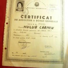 Certificat Absolvire Scoala Gen. la Liceul 3 Barlad 1966