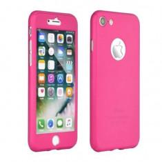 Husa Iberry 360 Folie Sticla Roz Pentru Iphone 7