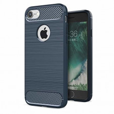 Husa APPLE iPhone 6\6S Plus - Luxury Carbon TSS, Bleumarin