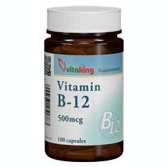 Vitamina B12 (Cianocobalamina) 500mcg Vitaking 100cpr Cod: vk1213
