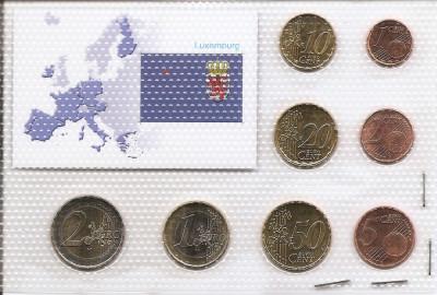 Luxemburg Set 8D - 1, 2, 5, 10, 20, 50 euro cent, 1, 2 euro 2005 - UNC !!! foto