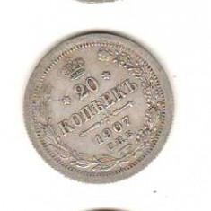 SV * Rusia tarista  LOT 3 x 20  KOPEEK / COPEICI  1903 - 1907 - 1909   ARGINT