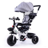 Tricicleta copii cu sezut reversibil Ecotoys EDIYM-BT-2 - Gri