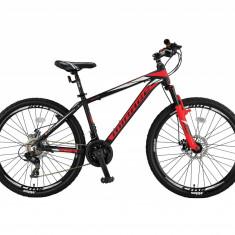 """Bicicleta MTB Umit Mirage 2D Cadru 16"""", 21 Viteze , Culoare Negru/Rosu, Roata 26PB Cod:26670160002"""