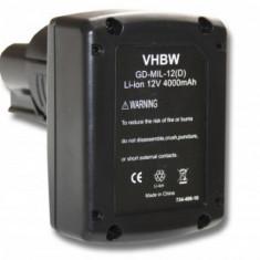 Acumulator pentru milwaukee / aeg 48-11-2401 u.a. 12v, li-ion, 4000mah