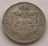 5 Lei 1901 Argint, Romania, VF