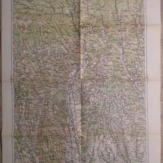 Ramnicu Valcea/ harta Serviciul Geografic al Armatei 1939
