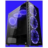 Carcasa njoy vanguard blue fara sursa middle tower atx 2xusb3.0 1xusb2.0 hd audio vent. incluse: