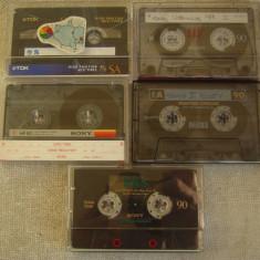 Lot 5 Casete Audio TDK si SONY - Inregistrate o singura data - 23