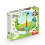 Joc copii tip lego 2 in 1, fete si baieti, Qboidz Girafa