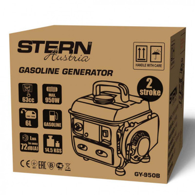 Generator electric pe benzina Stern Austria GY-950B 600W – max 950W foto