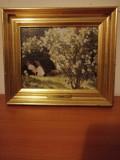 Tablou Peder Severin Kroyer Marie en el Jardin Canvas Print Danemarca