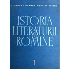 Istoria literaturii romane, vol. 1, Folclorul. Literatura romana in perioada feudala (1400-1780)