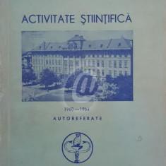 Institutul de medicina Timisoara. Activitate stiintifica 1960-1964. Autoreferate