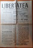 "Ziarul "" LIBERTATEA "" 22 decembrie 1989 -anul 1,nr.1 - primul ziar al revoluriei"