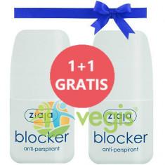 Blocker Antiperspirant Roll-On Pentru Transpiratie In Exces 60ml Pachet 1+1 Gratis