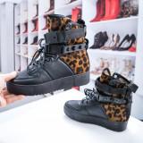 Ghete dama sport negru leopard Curlly -rl