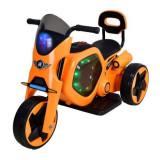 Tricicleta electrica DHS, 25 W, 4.5 Ah, roti poliuretan, maxim 25 kg, Portocaliu