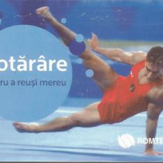 România, gimnastică, cartelă telefonică Romtelecom, 2010