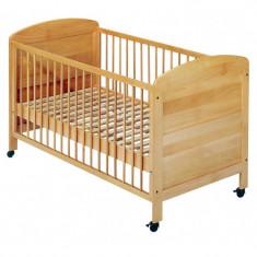 Patut pentru nou nascuti Easy Baby, lemn fag, natur, 70 x 140 cm