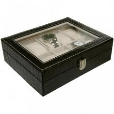 Cutie pentru 10 ceasuri model piele crocodil Autentic HomeTV