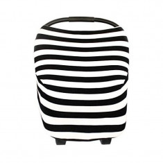 Husa multifunctionala 4 in 1 Bambinice Stripes, husa cosulet auto, cos cumparaturi si scaun de masa
