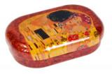 Cutie metalica pentru lentile de contact, Klimt The kiss