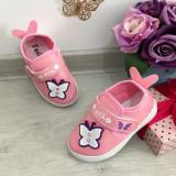Cumpara ieftin Espadrile roz cu fluturas adidasi moi pt fetite bebelusi 21 24 27 28, Fete