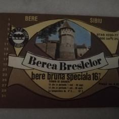 Eticheta bere Romania - BEREA BRESLELOR Sibiu  !