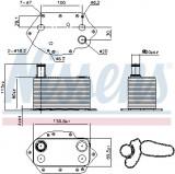Termoflot radiator ulei BMW Seria 3 (E46), 3 (E90), 3 (E91), 3 (E92), 3 (E93), 5 (E60), 5 (E61), 6 (E63), 6 (E64), 7 (E65, E66, E67), X3 (E83), X5 (E5, Nissens