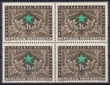 AUSTRIA 1954 -ANIVERSARE , ESPERANTO  BLOC DE 4 NESTAMPILAT