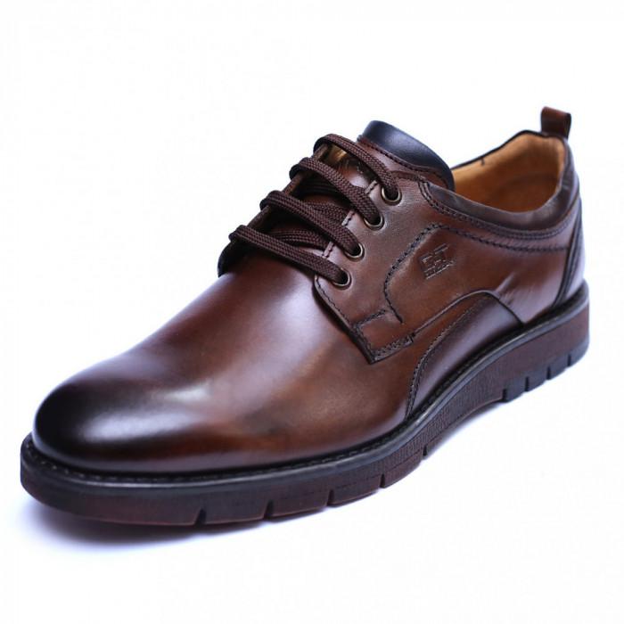 Pantofi barbati din piele naturala, Sir, Gitanos, Maro, 39 EU