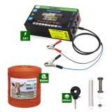 Pachet Gard Electric 2,5J putere + 1000m Fir 80Kg