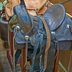 Two Vintage Western Style Leather Horse Saddles Journal: 150 Page Lined Notebook/Diary