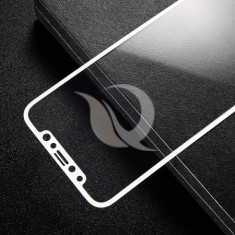 Protection, baseus, glass film set, front + back, iphone x, white